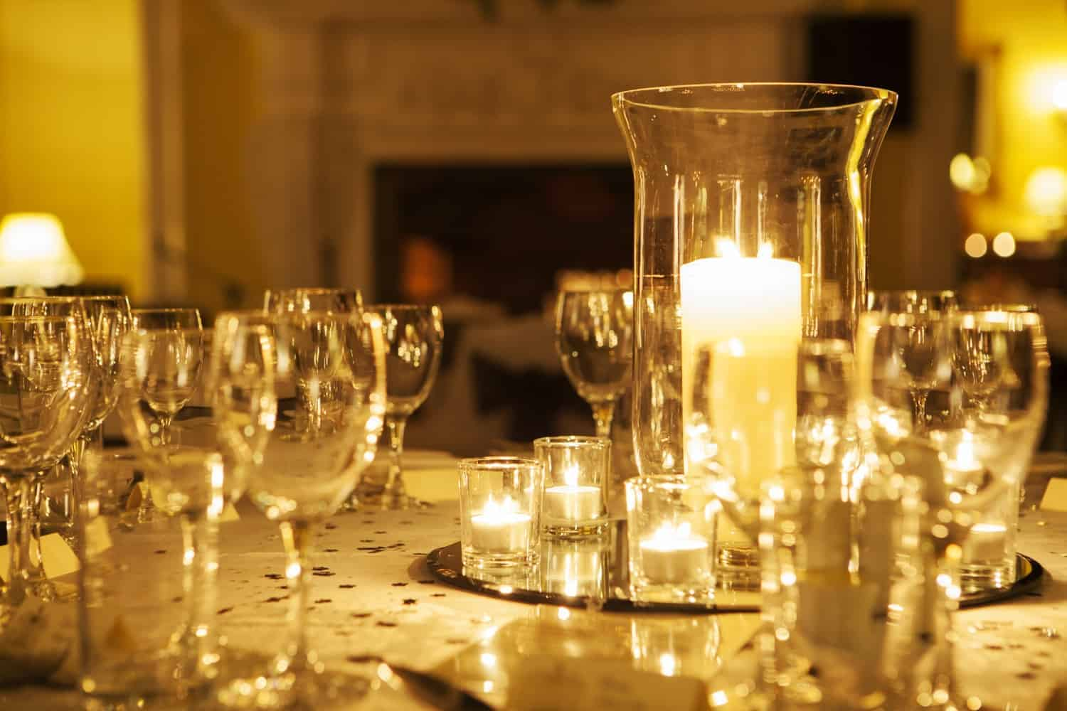 Clearwell Castle - Candles at Night